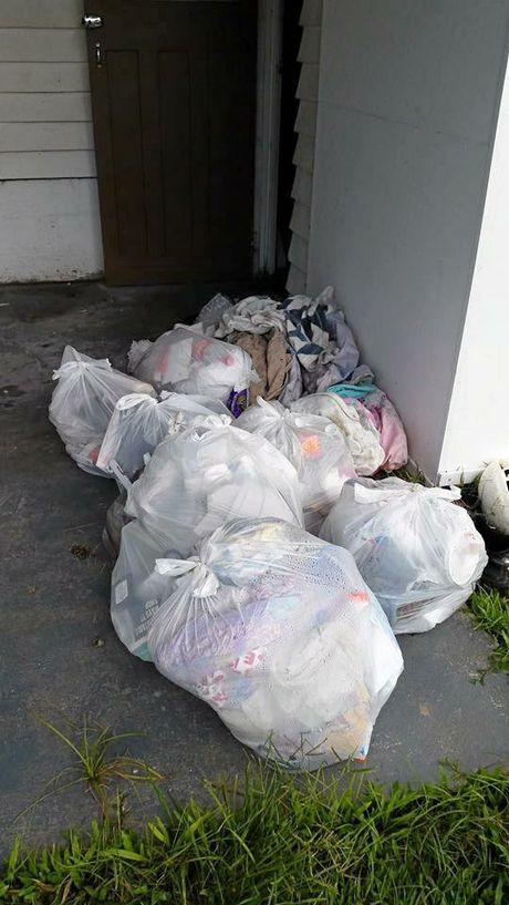 Piles of stinking rubbish