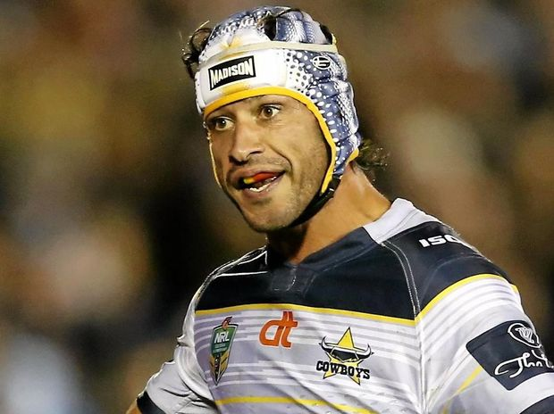 HAMSTRING TWEAK: Johnathan Thurston of the Cowboys may not play in the blockbuster against the Storm.