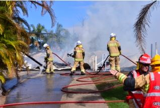 The Walker family lost all of their possessions when their home of about 20 years was razed fire fire at Peregian Beach.