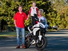 JOIN THE CLUB: Chris Driver, wife Sian and daughter Indi-Summer want owners of Ducatis to get together.