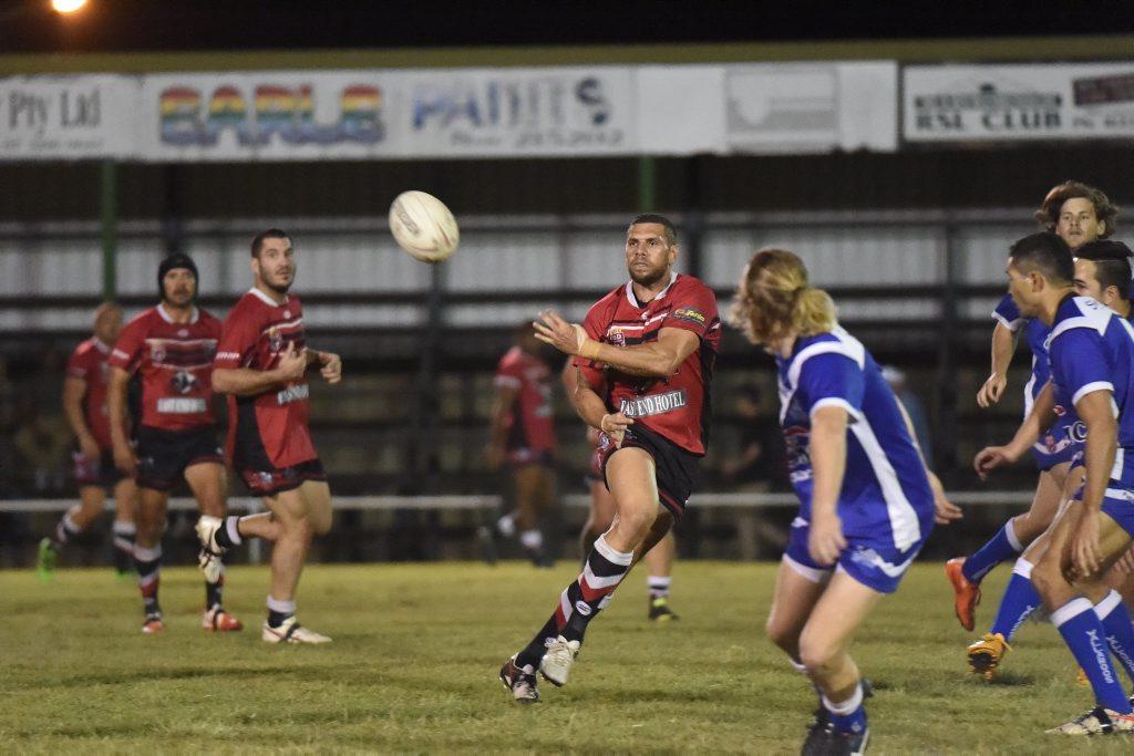 Wests Josh Tanner. Bundaberg Rugby League: Wallaroos v Wests Panthers at Eskdale Park, Maryborough.