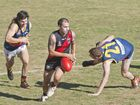 Tasman Myles, South. South Toowoomba vs University, DDAFL rd 15 . Friday July 29 , 2016.