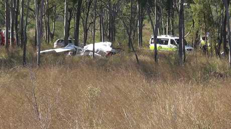 A man crashed his aircraft into trees at a rural Raglan property at 8.30am this morning.