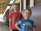 Luke and Henry Young came from Oakey for the day.