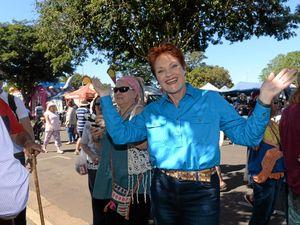 Pauline Hanson enjoys Childers Festival