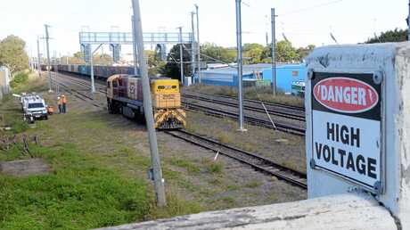 ELECTROCUTION: A fatal incident occurred overnight on the QLD railway lines in Bundaberg.Photo: Paul Donaldson / NewsMail