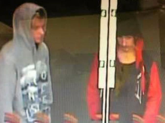 Police want to speak with these two men in relation to an armed robbery.