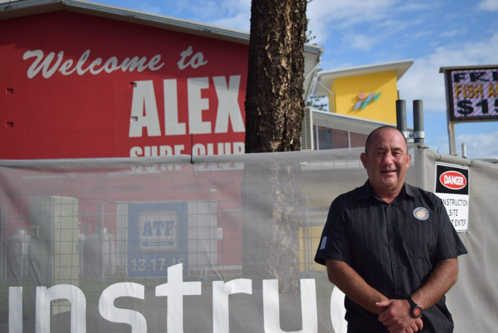 Alex Surf Club general manager Ashley Robinson can't wait for the renovations to be finished.