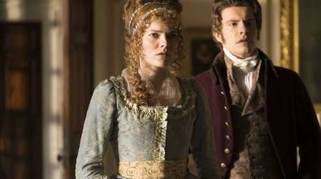 Emma Greenwell and Xavier Samuel in a scene from the movie Love & Friendship.