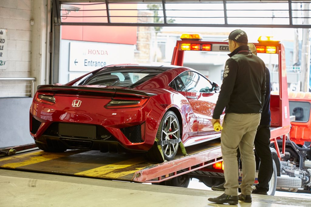 2017 Honda NSX hybrid supercar arrives in Melbourne. Photo: Contributed