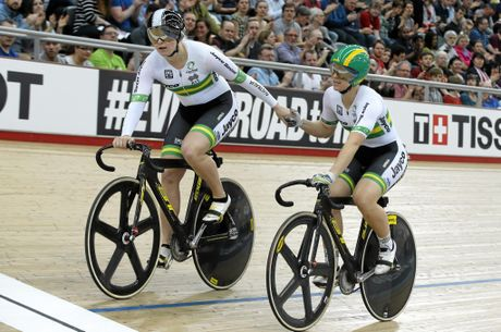 CLOSE BATTLES: Anna Meares (right) rates fellow Aussie Stephanie Morton (left) as one of her toughest rivals.