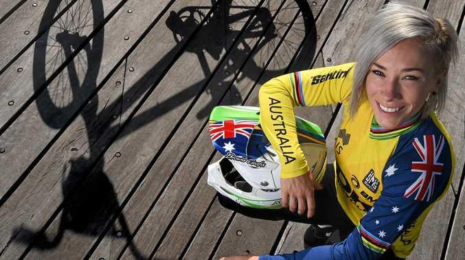 MEDAL FAVOURITE: Five-time BMX world champion Caroline Buchanan.