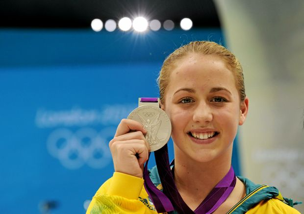 RULED OUT: Brittany Broben of Australia with her silver medal for the women's 10m platform final at London 2012 Olympics.