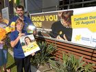 SHOW YOU CARE: Margaret Poole, Brendon Searle and Mary Leahy are encouraging Bundaberg residents to get behind this year's Daffodil Day activities.
