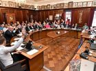 Fraser Coast Regional Council - first official meeting in the Maryborough Council Chambers. Photo: Alistair Brightman / Fraser Coast Chronicle