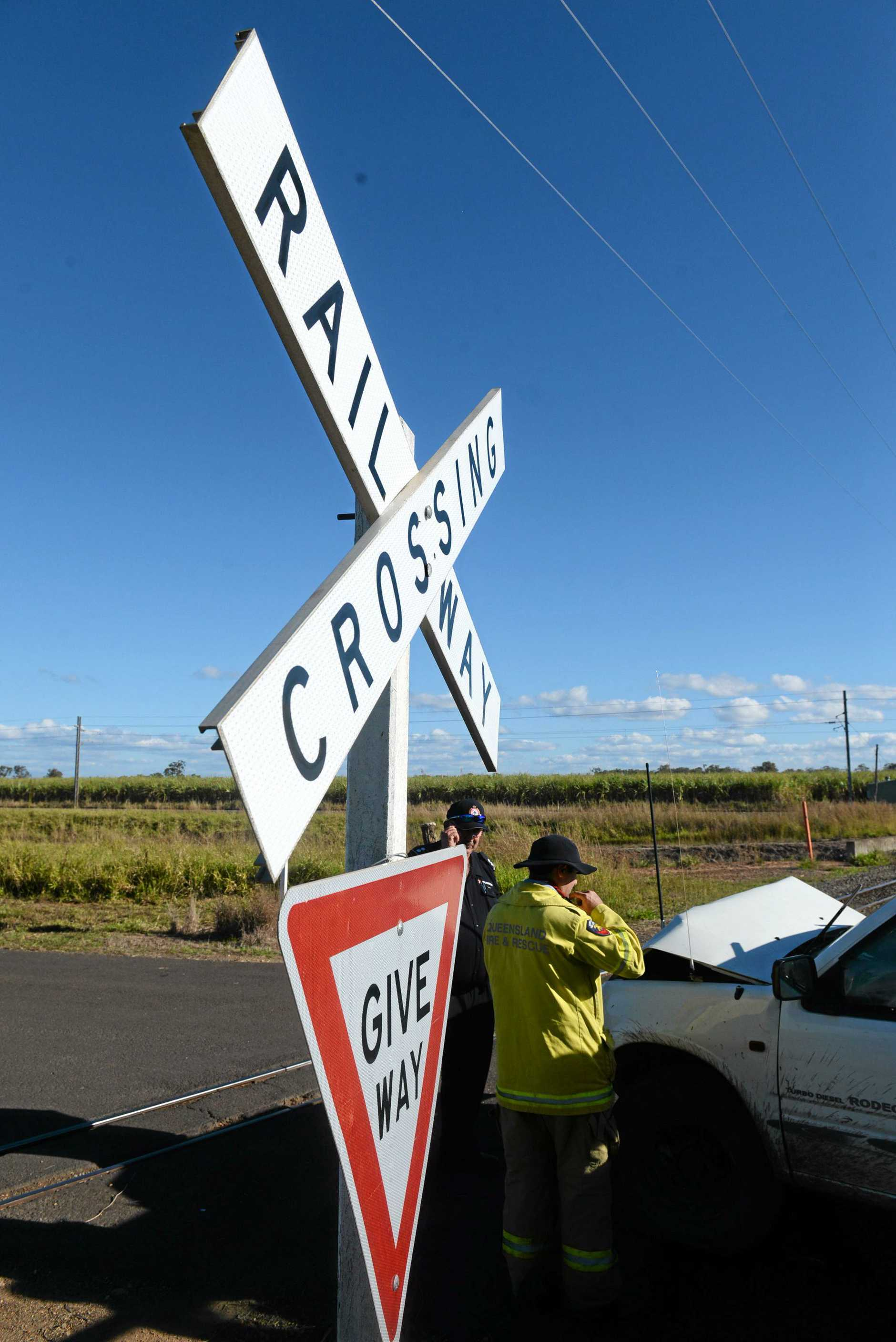 CANE COLLISION: A ute collided with a cane train on Tolls Road Welcome Creek.