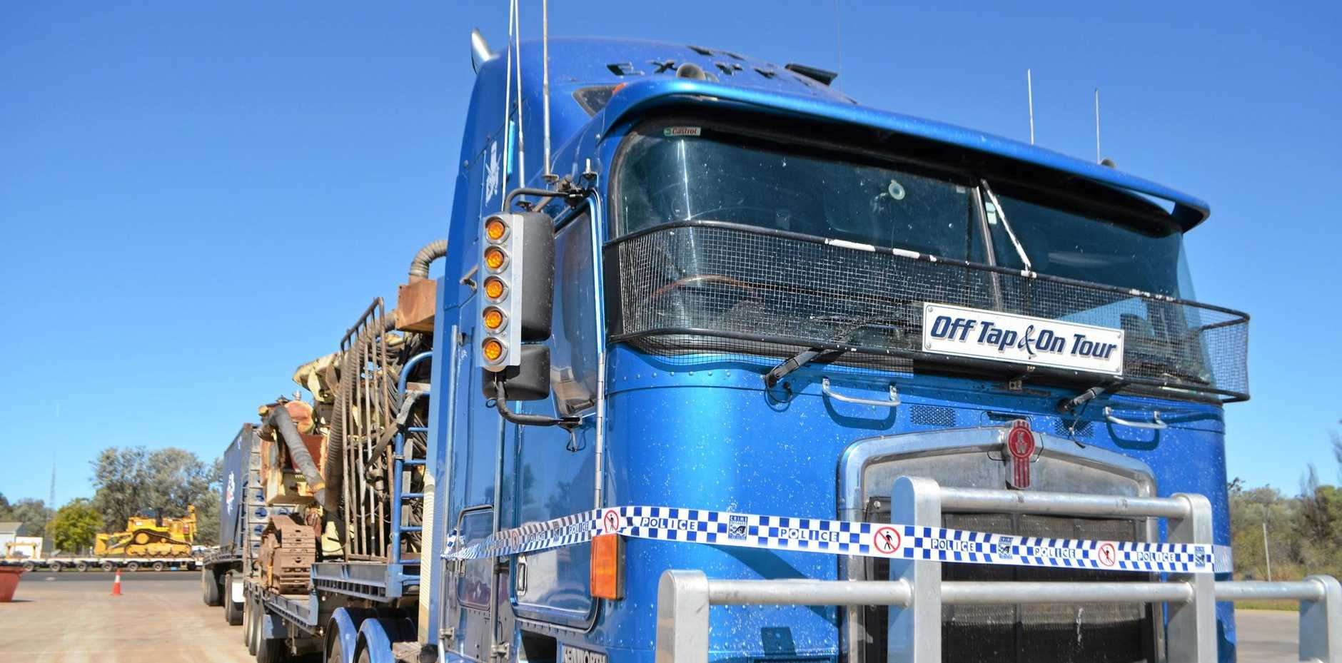 DIRTY RIG: The Butler's truck, in which they allegedly stole thousands of litres of fuel.