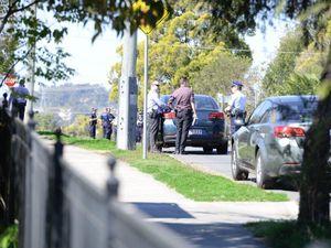 Detectives at scene of triple stabbing