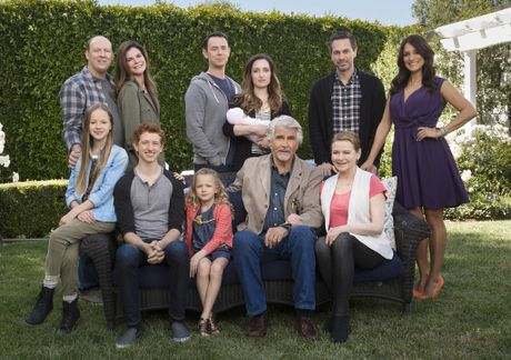 The cast of the US sitcom Life In Pieces.