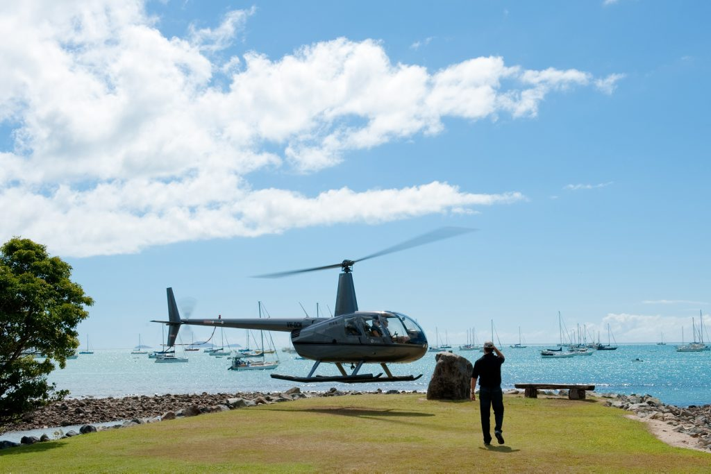 MID-WEEK: Take a helicopter joy flight as part of the Whitsunday Reef Festival's mid-week activity schedule. Photo: Debbie Savy / Tropix Photo Contributed