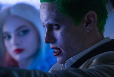 Margot Robbie and Jared Leto in a scene from the movie Suicide Squad.