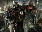 Back from left, Adewale Akinnuoye, Joel Kinnaman, Will Smith and, front from left, Margot Robbie, Karen Fukuhara and Jai Courtney in a scene from Suicide Squad.