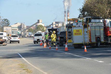 Two-vehicle crash on the Peak Downs Hwy and Bernborough Av, Ooralea.Photo Tony Martin / Daily Mercury