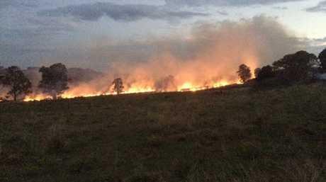 The blaze has a 500m fire front.