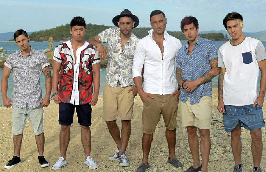 POP STARS IN PARADISE: The six-member urban pop group Justice Crew in the Whitsundays.