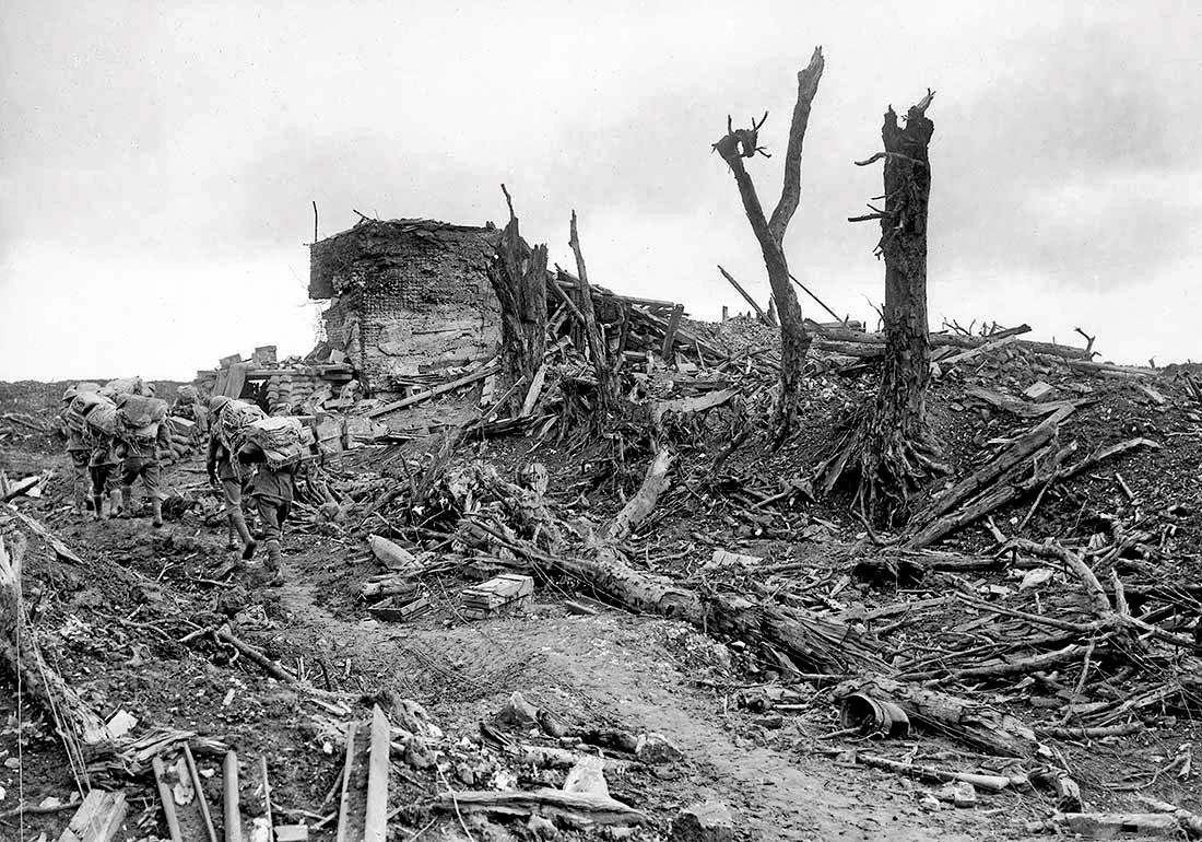 The German strongpoint at Pozieres, nicknamed Gibraltar Bunker by the Australians, was left in ruins after the village was captured.