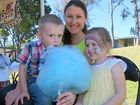 Amanda Fisher with Xander Fisher and Amelia Simpson at Haigslea State School's 140th anniversary fete.