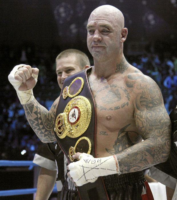 TITLE BELT: Australian fighter Lucas