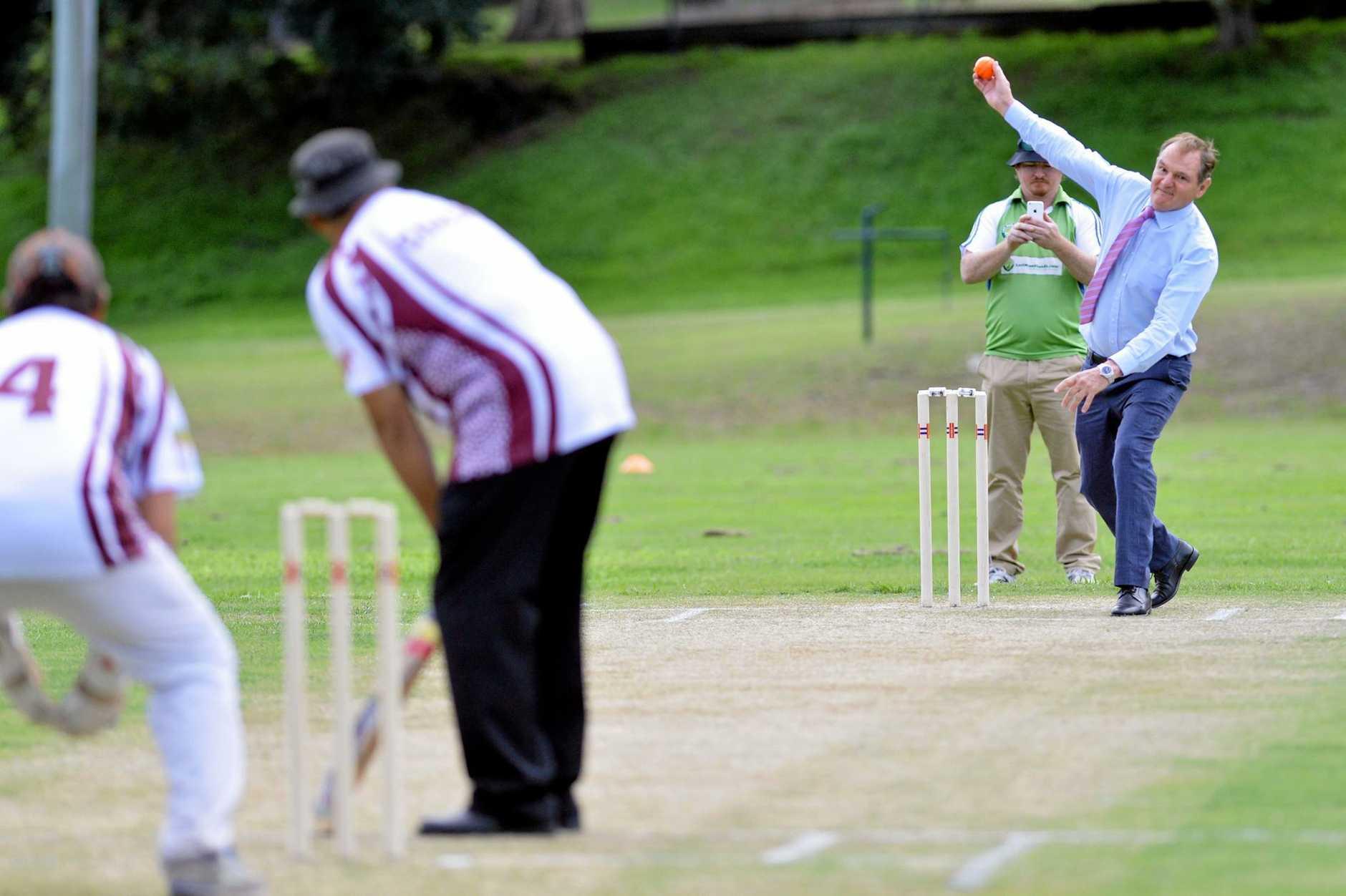Action from the Inaugural NAIDOC Cricket Cup.