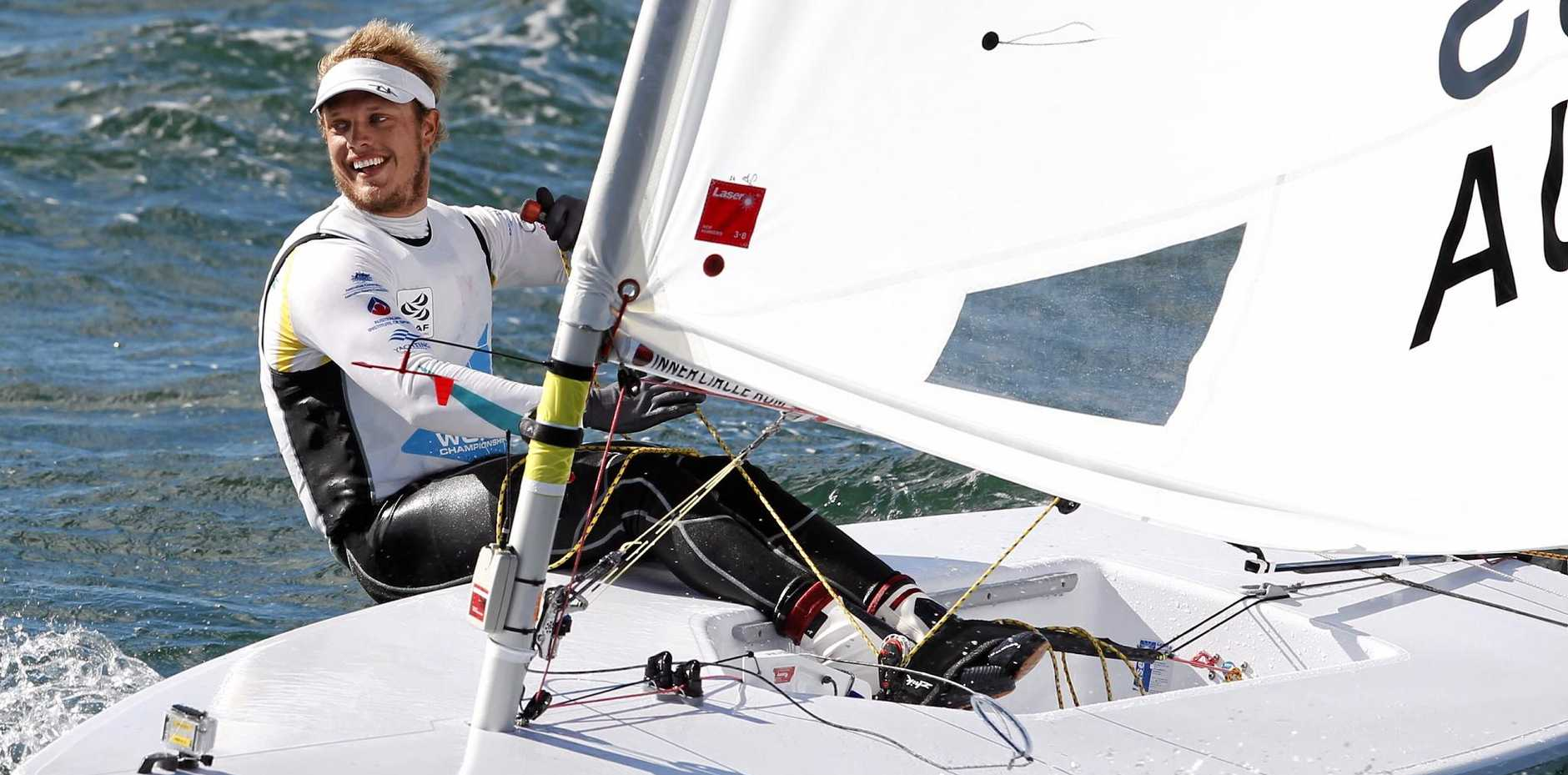 SETTING SAIL: Australian Tom Burton is hoping his strong form can carry him to gold in Rio.