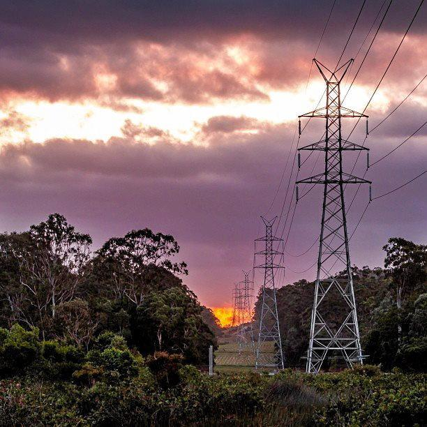 Instagram user @catblack10 snapped these powerlines at sunset out at Sippy Downs.