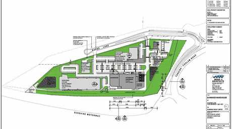 Proposed site plan for Bunnings' third application for a complex off Barns Lane, Coolum.
