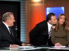 Awkward! Moment Rebecca Judd shuns Tony Jones' kiss
