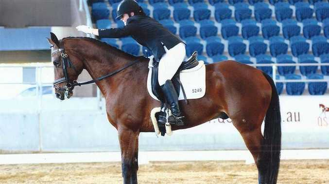 Emily Baretta and her horse Raffy who competed at the National Youth Dressage Championships.