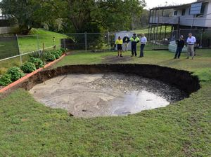 How deep does sink hole go?