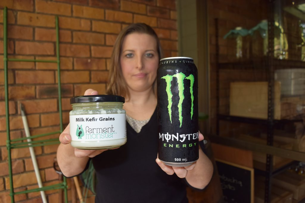 WORLDS APART: Alstonville businesswoman Natalie Brookes is being pursued by Monster Beverage Corporation over her use of the word