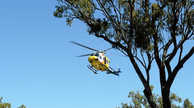 The RACQ Capricorn Rescue Helicopter Service in the air.