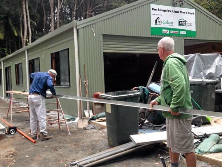 Volunteers worked tirelessly to complete and fit-out the new Bangalow Men's Shed, officially opening today.