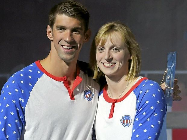 SUPREME ATHLETES: Michael Phelps and Katie Ledecky will spearhead the US swim team's bid for glory in the pool in Rio.