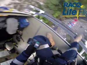 Dramatic winch rescue from Queensland national park
