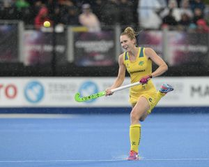 HEADING TO RIO: Mackay's Kirstin Dwyer during the Champions Trophy Game.