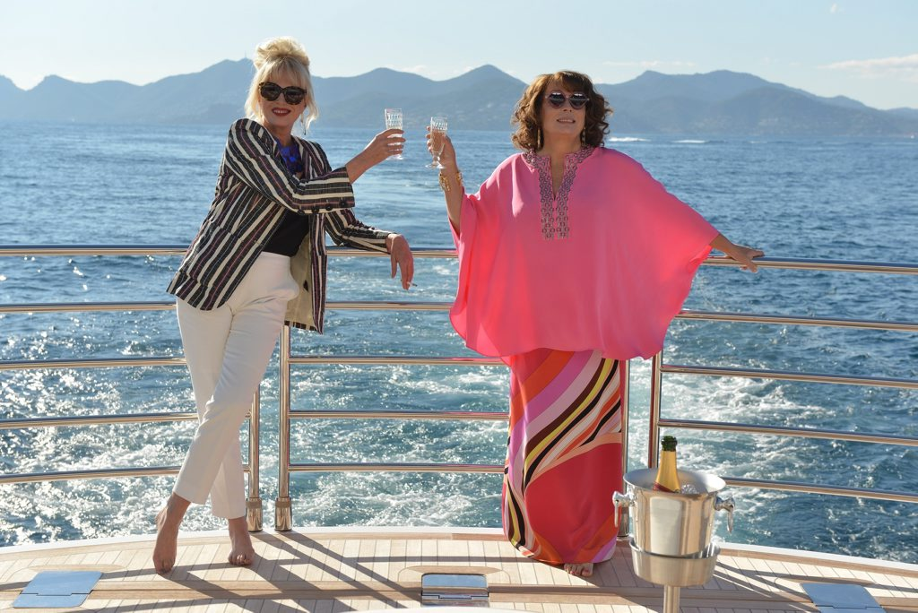 Joanna Lumley and Jennifer Saunders in Absolutely Fabulous: The Movie.