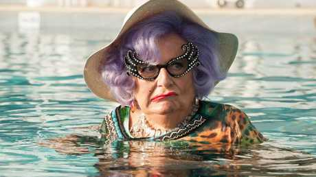 Barry Humphries in a scene from Absolutely Fabulous: The Movie.