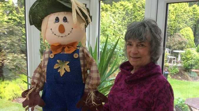 Margaret Boyd with a Scottish doll that will inspire Mackay's own