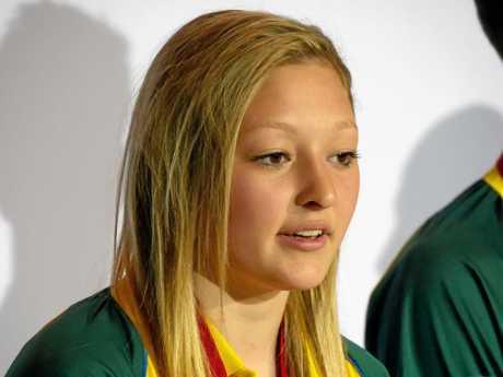 POCKET ROCKET: Judoka Chloe Rayner speaks to the media.