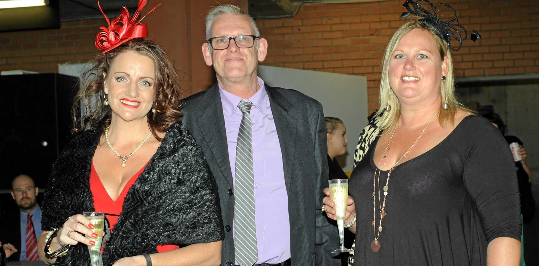 DAY OUT: Lea Stanton, Michael Riley and Brigitte Klinkers at the Coffs Harbour Races.